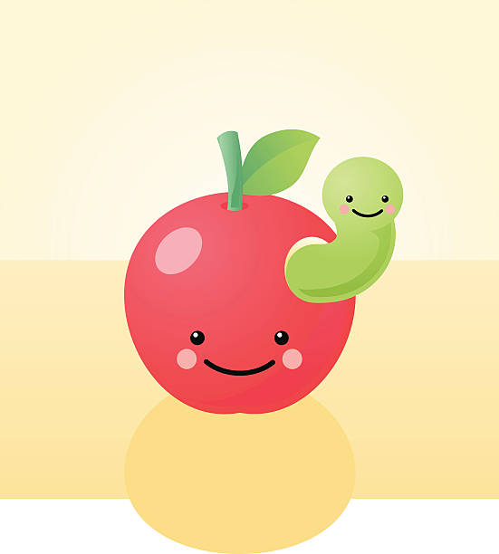 best friends - rotten apple stock illustrations, clip art, cartoons, & icons