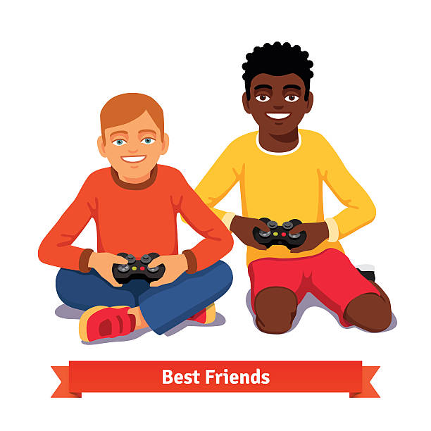 Best Playing Computer Games Illustrations, Royalty-Free ...