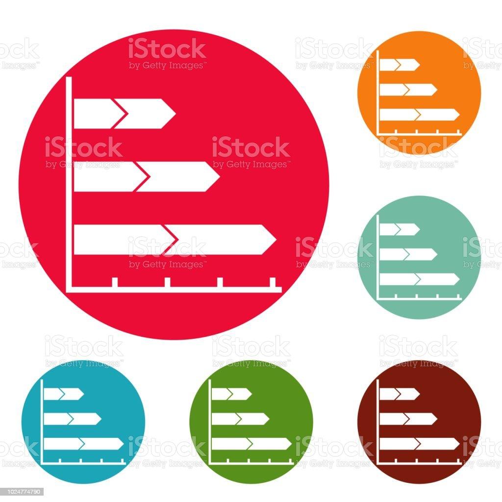 Beste Grafik Symbole Kreis gesetzt Vektor – Vektorgrafik
