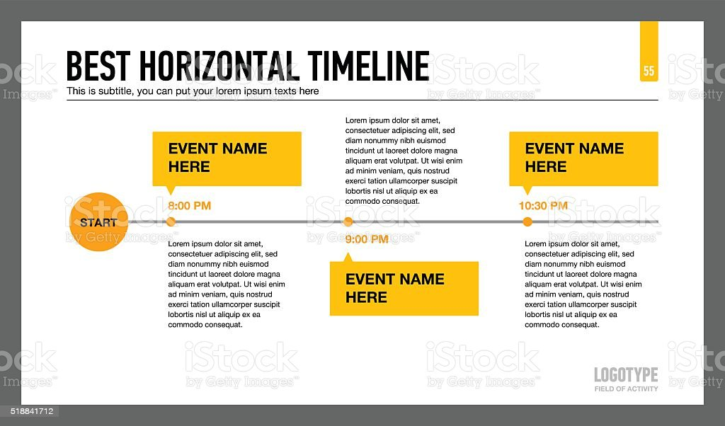 best horizontal timeline template 1 stock vector art more images