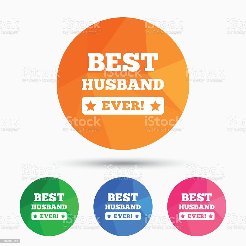 Best Husband Ever Sign Icon Award Symbol Stock Illustration