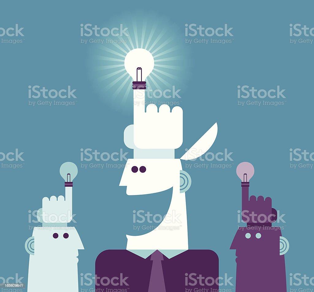 Best idea royalty-free stock vector art