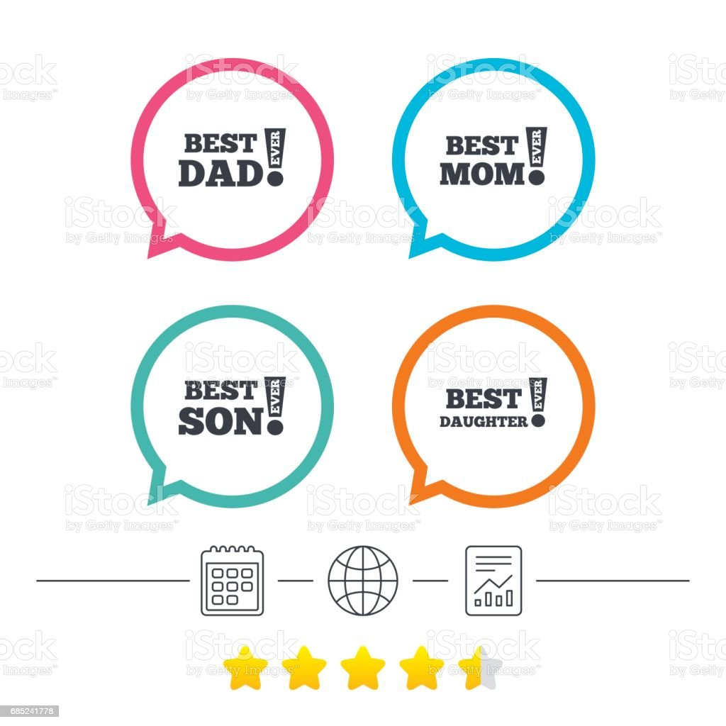 Best mom and dad, son, daughter icons. royalty-free best mom and dad son daughter icons stock vector art & more images of adult