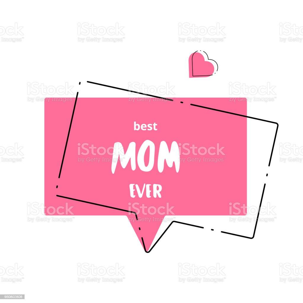 Beste Mama je Karte. Vektor-Illustration. – Vektorgrafik