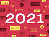 Best of Year 2021 abstract background.