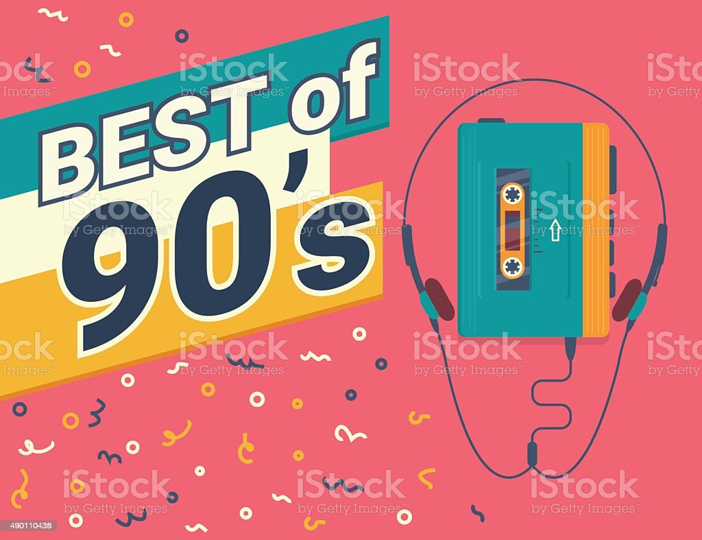 Best of 90s vector art illustration
