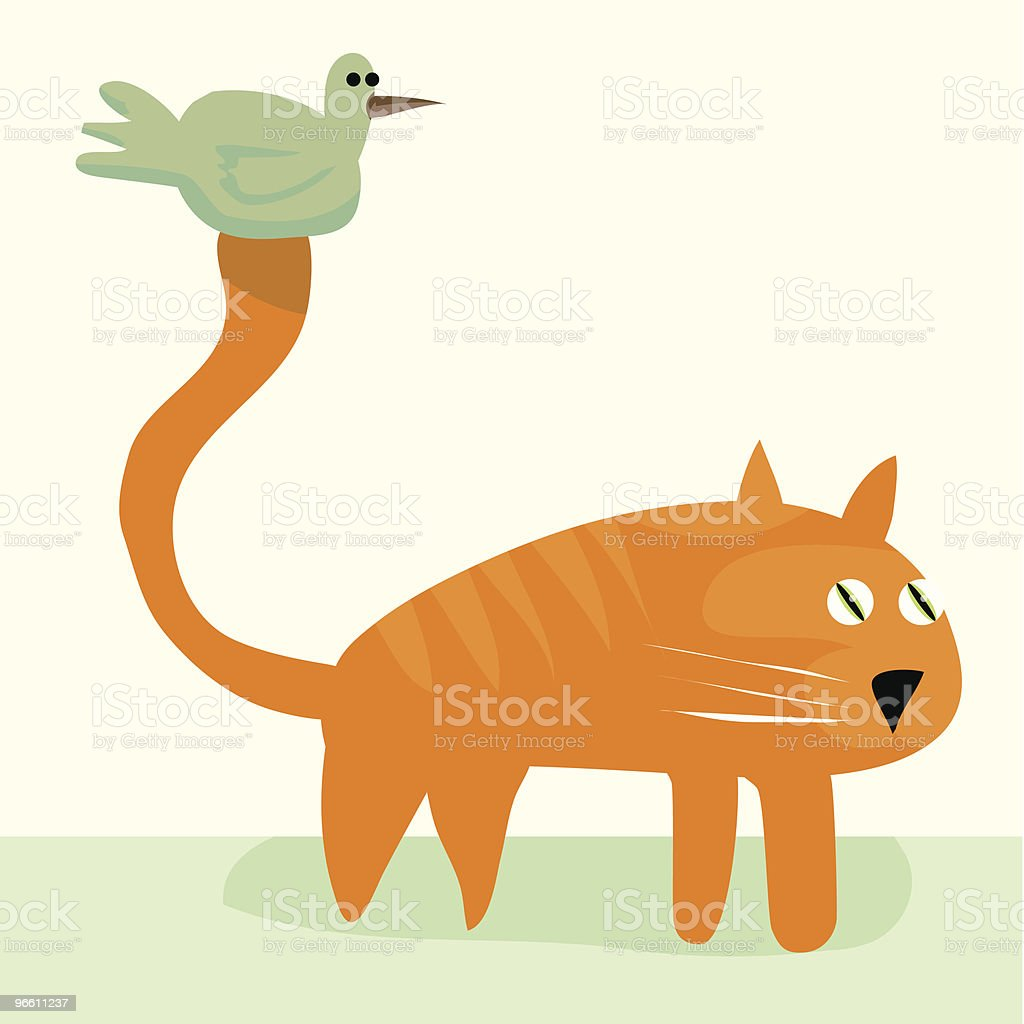Best of friends - Royalty-free Animal Themes stock vector