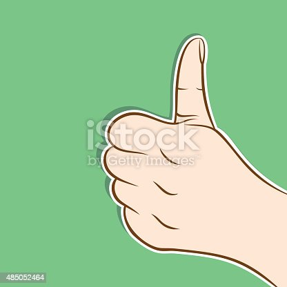 like or thumb up hand or good luck icon design vector