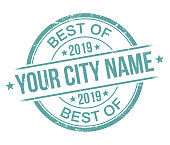 Best of 2019 your city stamp recommendation award badge.