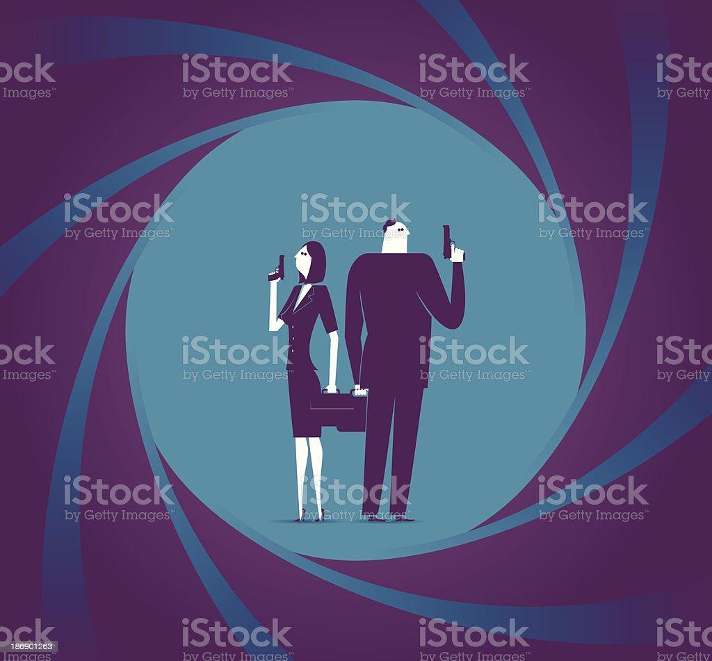 Best Partner vector art illustration