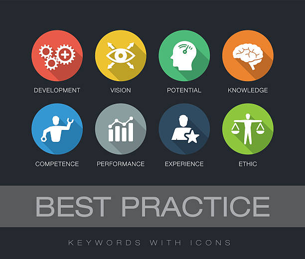 Best Practice keywords with icons - Illustration vectorielle