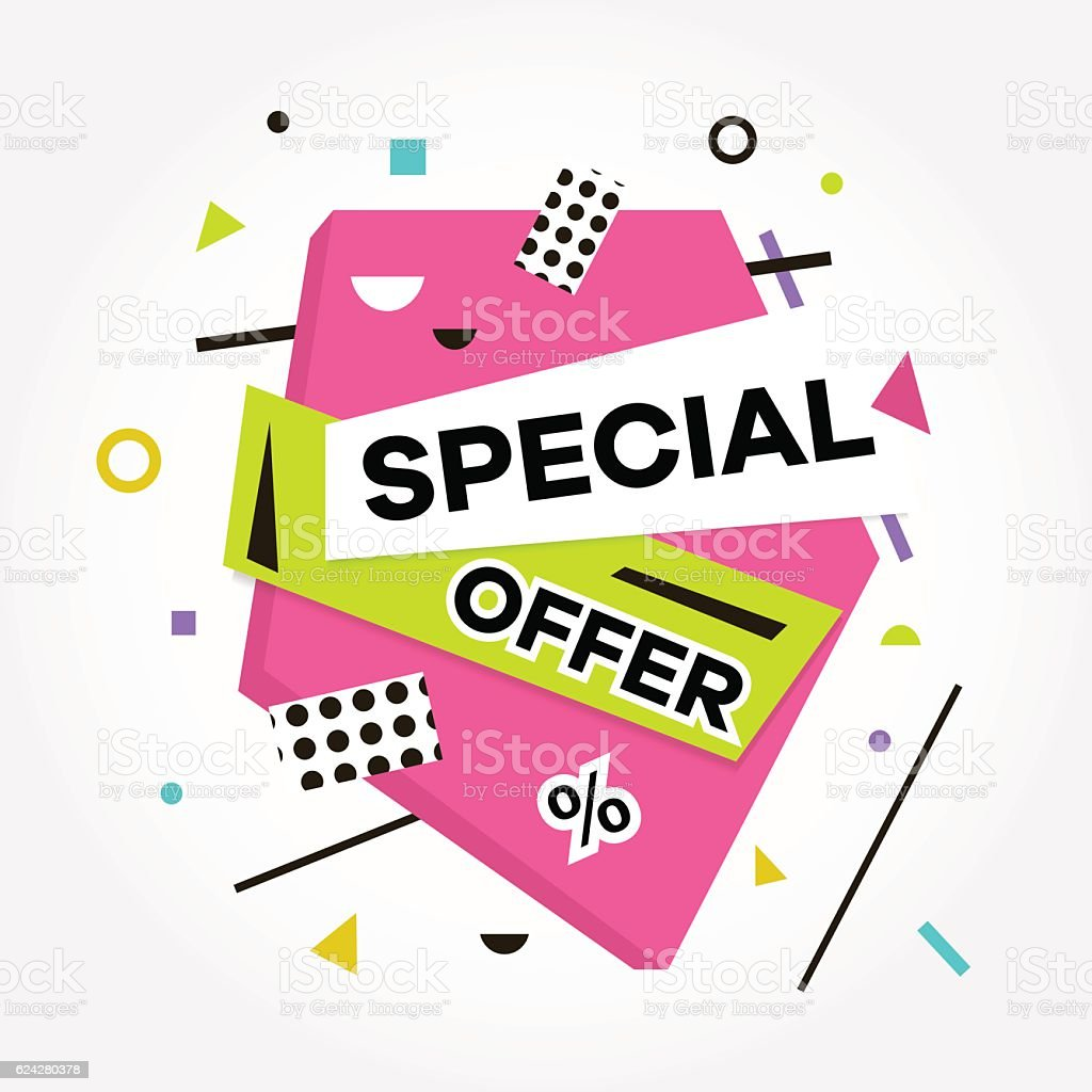 Best Price. Sale. Special Offer text. Vector creative banners. vector art illustration