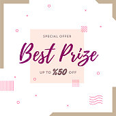 Best Prize Retro Web Banner for Social Media