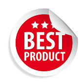 Best Product label sticker vector