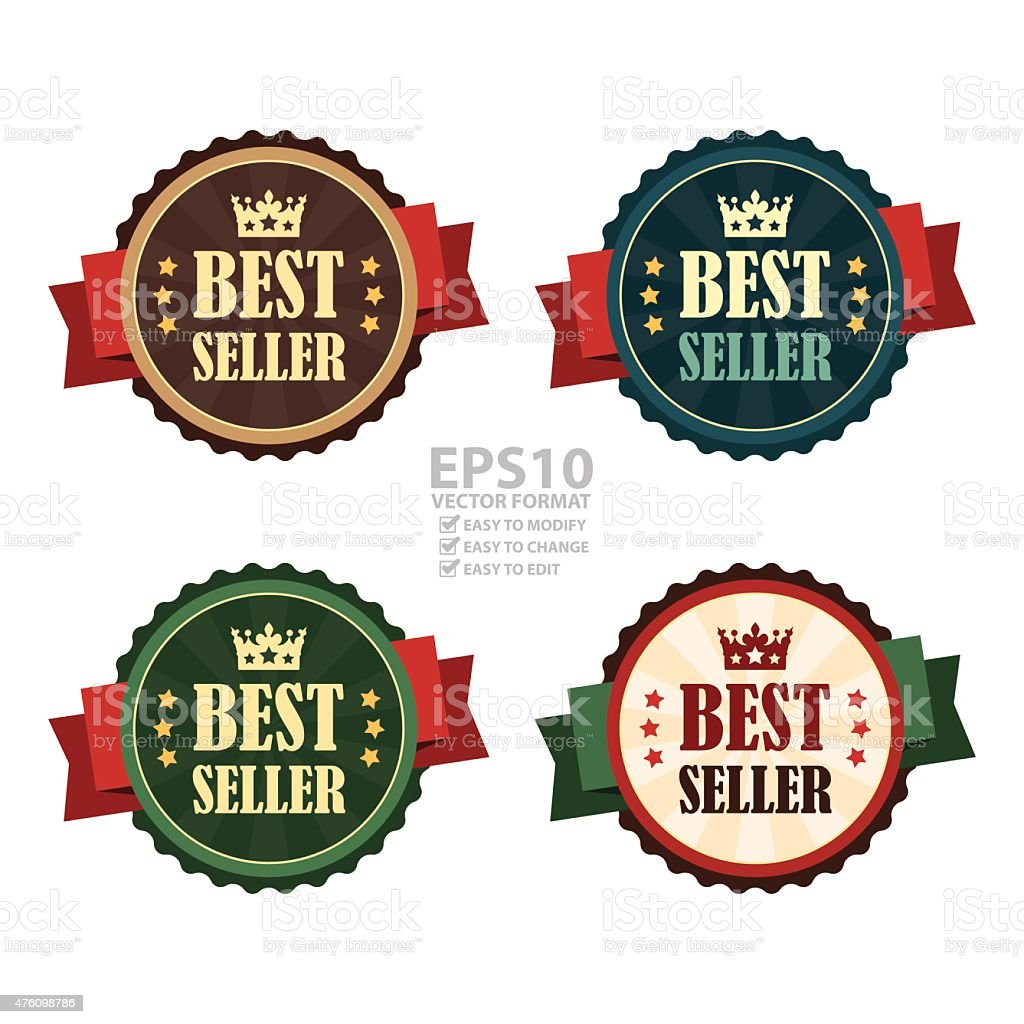 Best Seller Banner, Sign, Tag, Label, Sticker or Icon vector art illustration