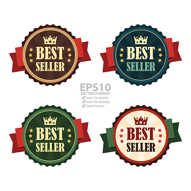 ilustraciones, imágenes clip art, dibujos animados e iconos de stock de mejor vendedor banner, señal, etiquetas, etiquetas de adhesivo o en el icono - corredor de bolsa