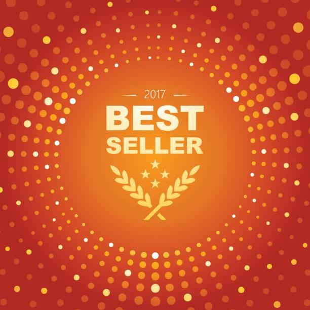 円の図形と輝く最高の売り手エンブレム ライトの抽象的なテーマ - 株式仲買人点のイラスト素材/クリップアート素材/マンガ素材/アイコン素材