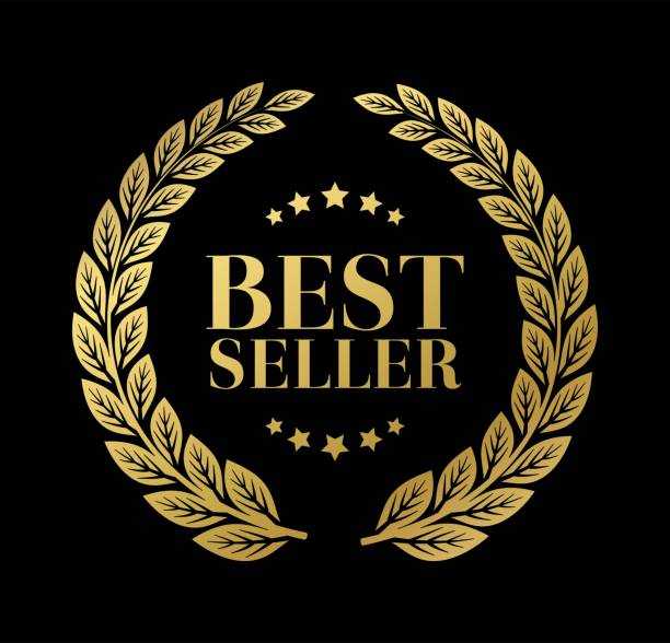 bestes verkaufszeichen mit lorbeervektor - broker stock-grafiken, -clipart, -cartoons und -symbole