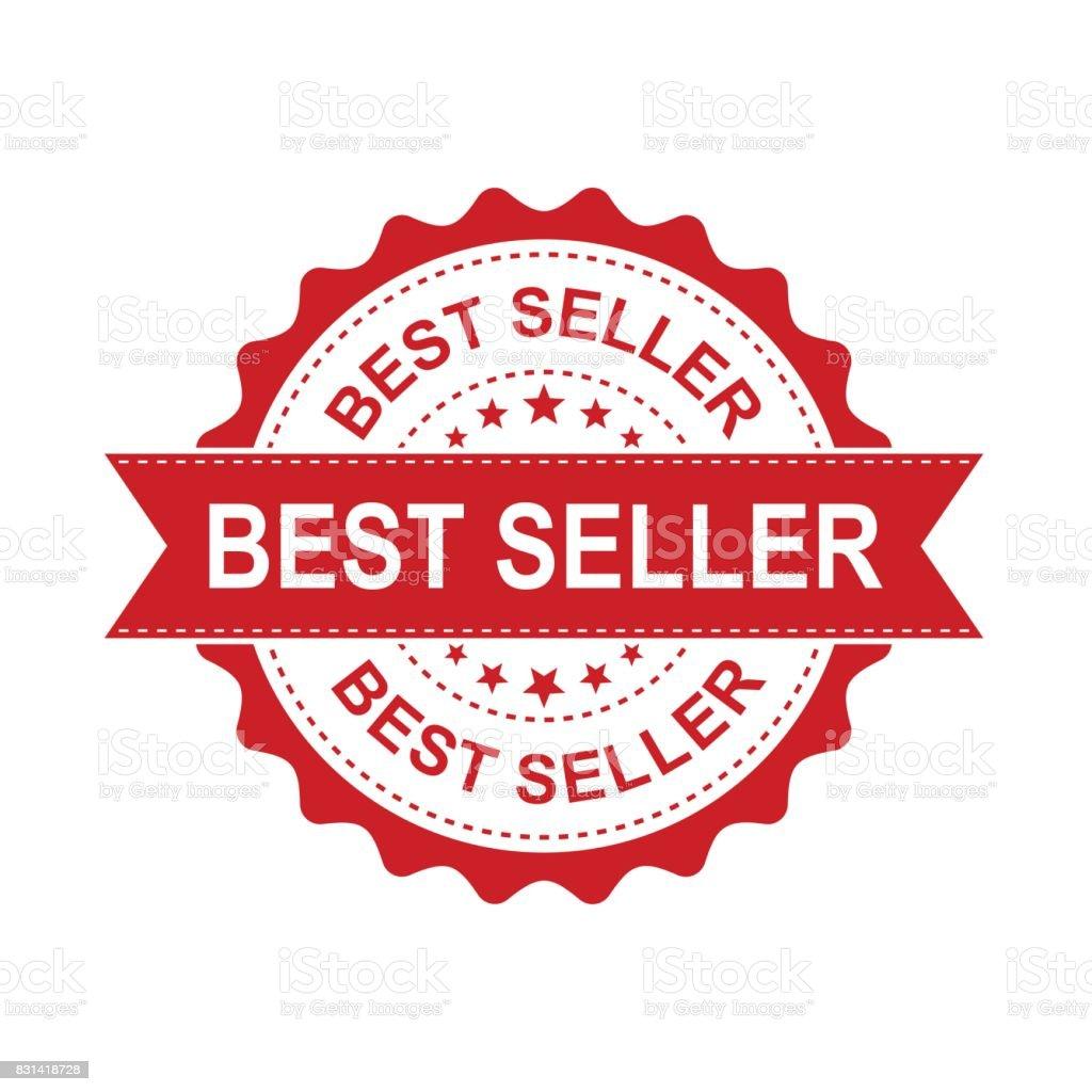 Best seller grunge rubber stamp. Vector illustration on white background. Business concept bestseller stamp pictogram.
