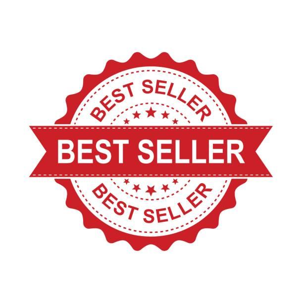 ilustraciones, imágenes clip art, dibujos animados e iconos de stock de sello de goma grunge de mejor vendedor. ilustración de vector sobre fondo blanco. pictograma de sello de empresa concepto best seller. - corredor de bolsa