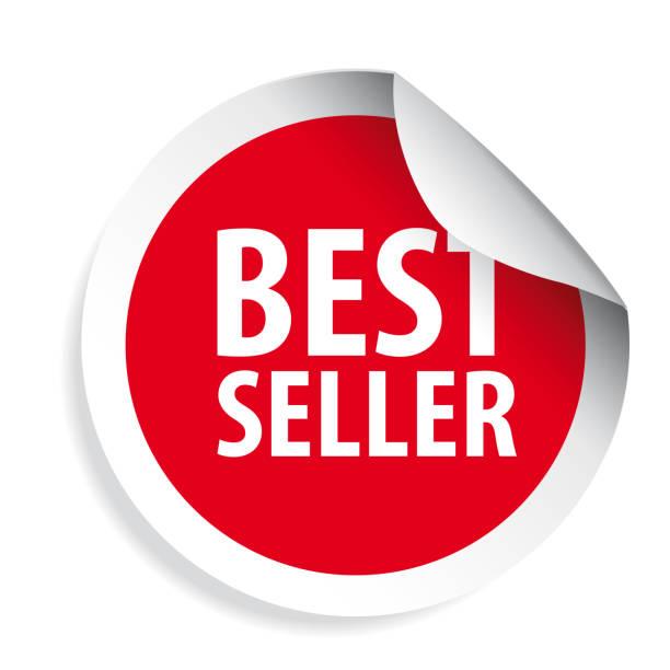ilustraciones, imágenes clip art, dibujos animados e iconos de stock de mejor vendedor etiqueta autoadhesiva - corredor de bolsa