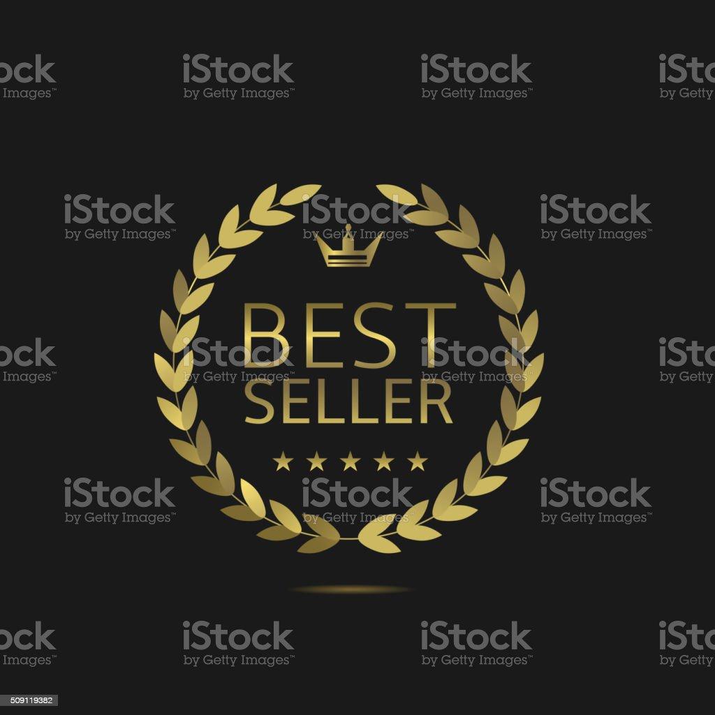 Meilleur vendeur étiquette - Illustration vectorielle