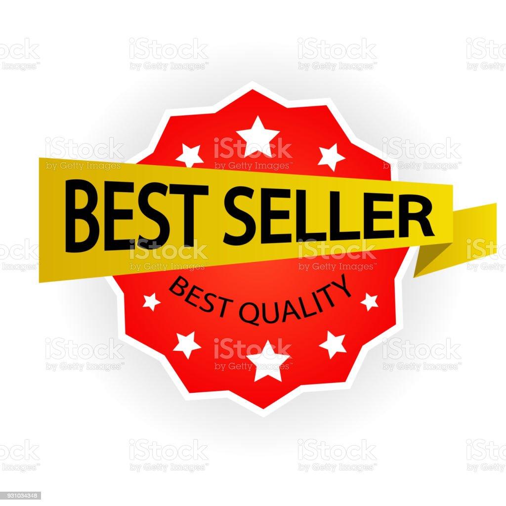 6ac70ed76 Vetor de Ilustração Em Vetor Melhor Vendedor Rótulo e mais banco de ...
