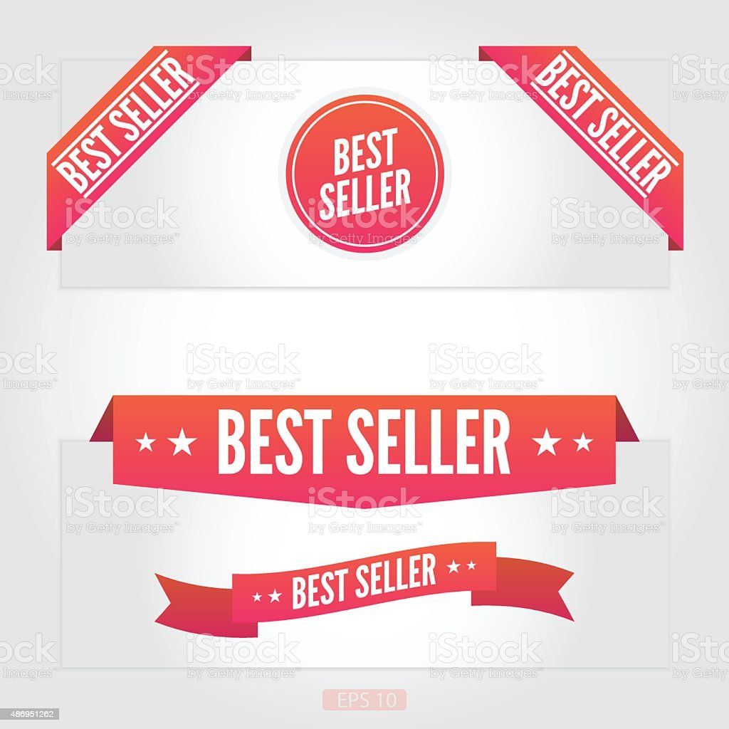 Best seller labels vector art illustration