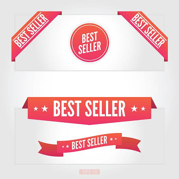 ilustraciones, imágenes clip art, dibujos animados e iconos de stock de mejor vendedor etiquetas - corredor de bolsa
