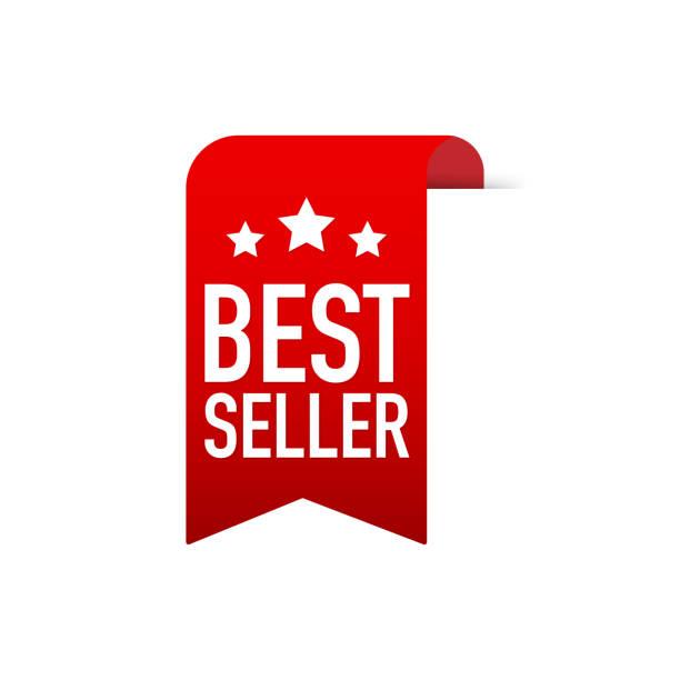 赤ラベルのベストセラー。web の赤いリボン。ベクトルの図。 - 株式仲買人点のイラスト素材/クリップアート素材/マンガ素材/アイコン素材