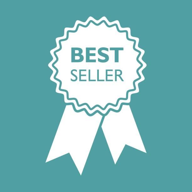ilustraciones, imágenes clip art, dibujos animados e iconos de stock de mejor icono de la cinta de vendedor. ilustración de vector de medalla en estilo plano sobre fondo aislado. - corredor de bolsa
