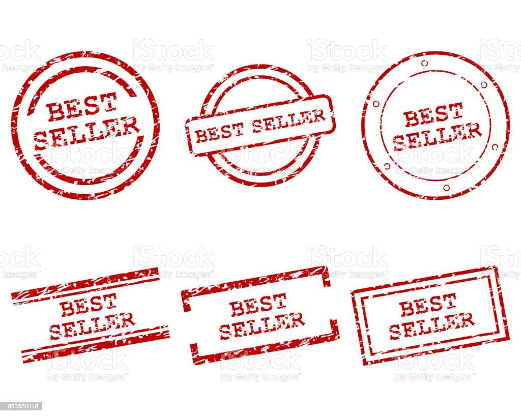 Meilleurs timbres de vendeur - Illustration vectorielle