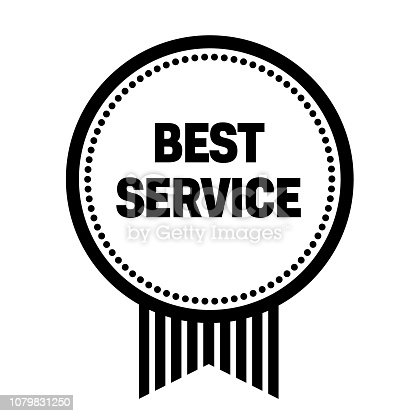 best service stamp on white background. Sign, label, sticker.