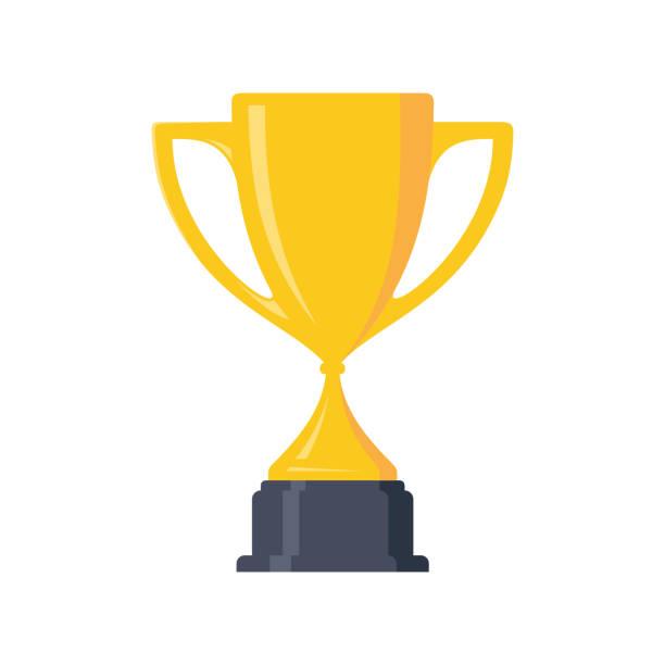 stockillustraties, clipart, cartoons en iconen met beste eenvoudige kampioen cup winnaar trofee award en overwinning - sportkampioenschap
