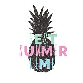Best Summer day. Stylish poster, trendy graphics. Vector illustration.