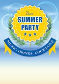 Best summer party yellow label