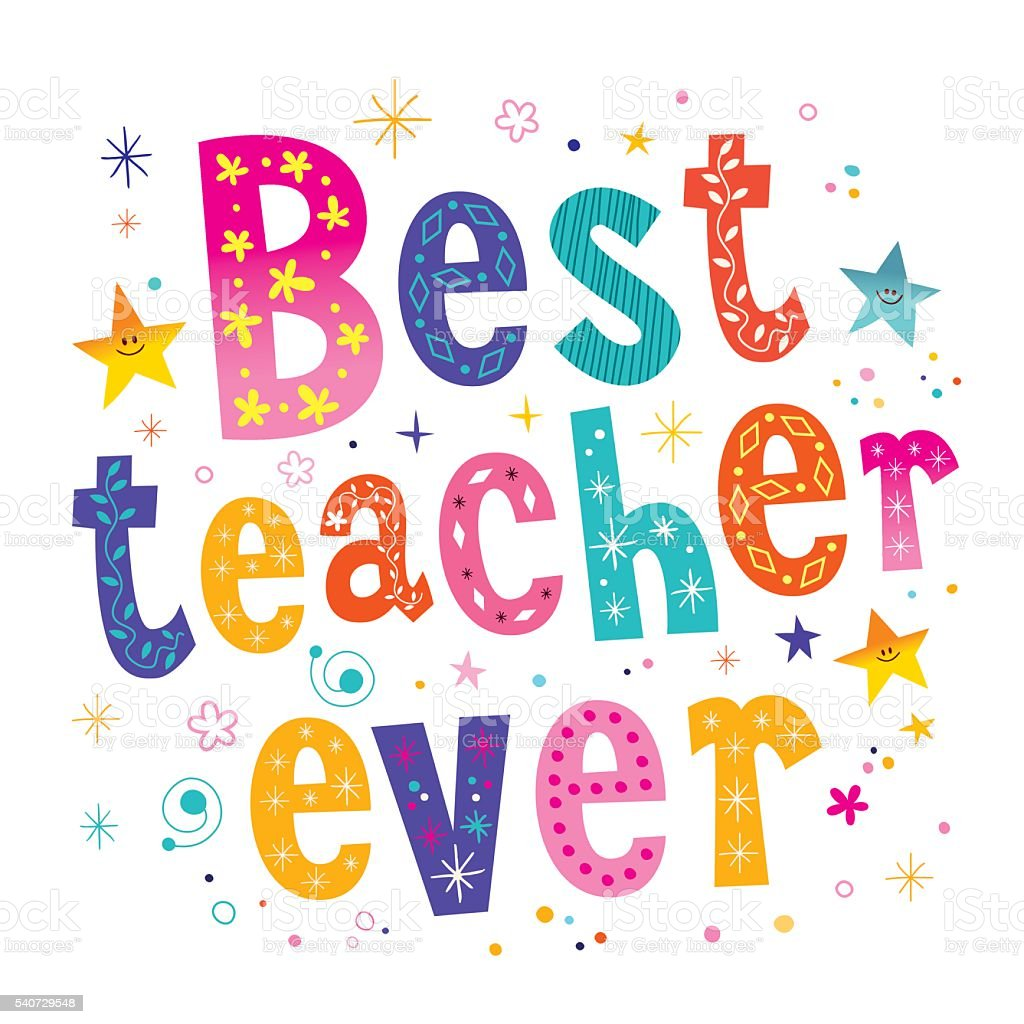 best teacher ever stock vector art amp more images of