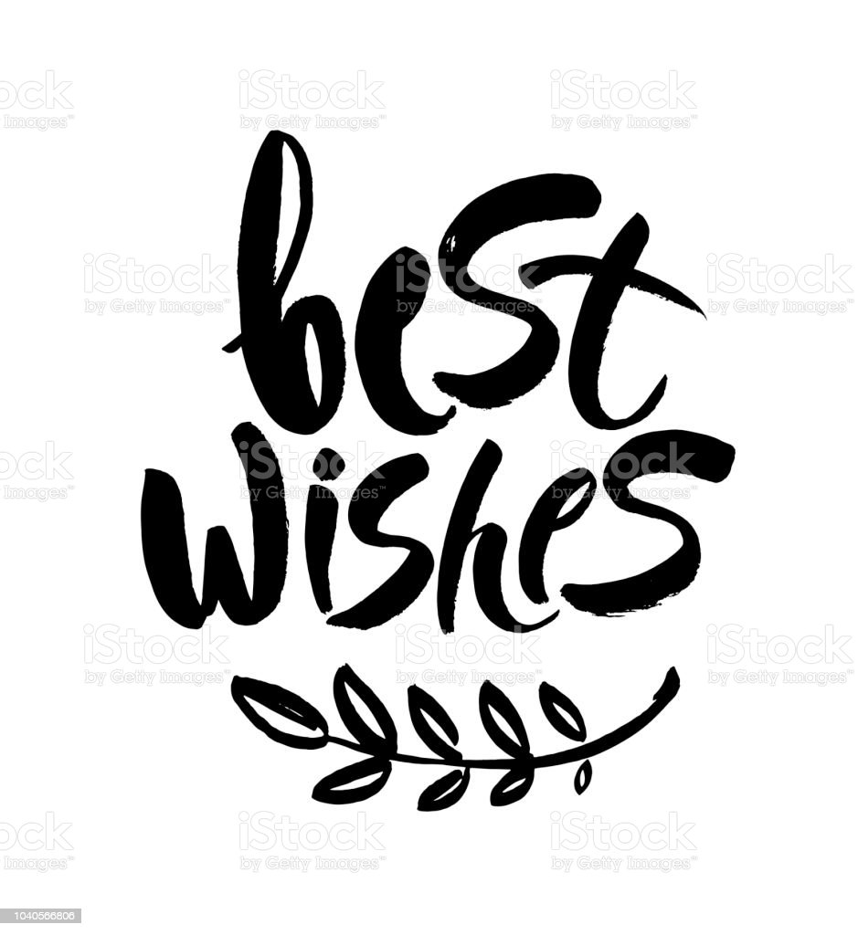 Best Wishes Christmas And New Year Brush Calligraphy Isolated On ...