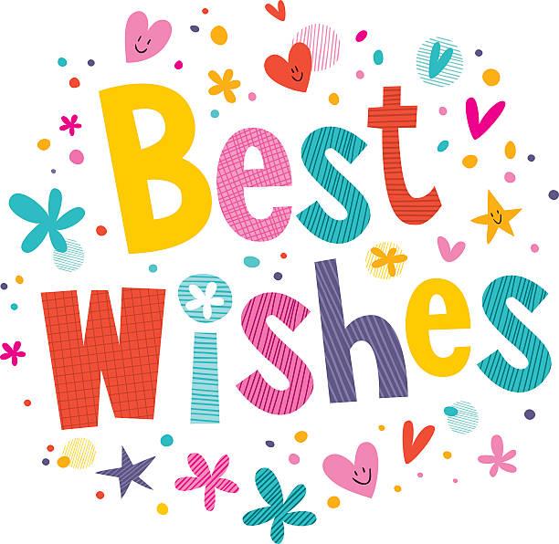 Best Wishes vector art illustration