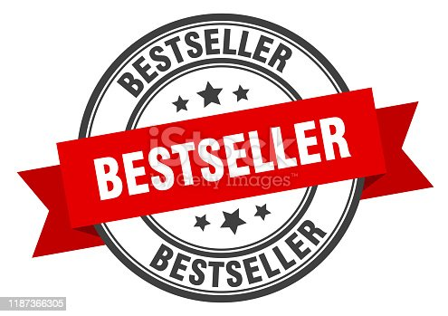 bestseller label. bestseller red band sign. bestseller