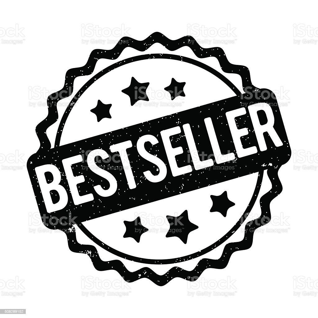 Bestseller rubber stamp black on a white background.