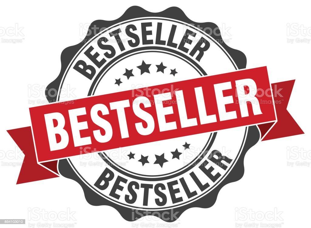timbre de Best-seller. signe. joint d'étanchéité - Illustration vectorielle