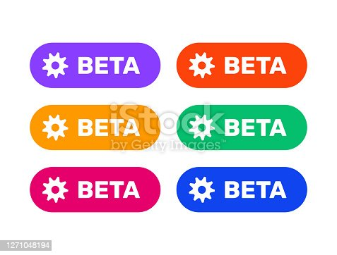 beta shields icon set, colorful icons for web design, app, games