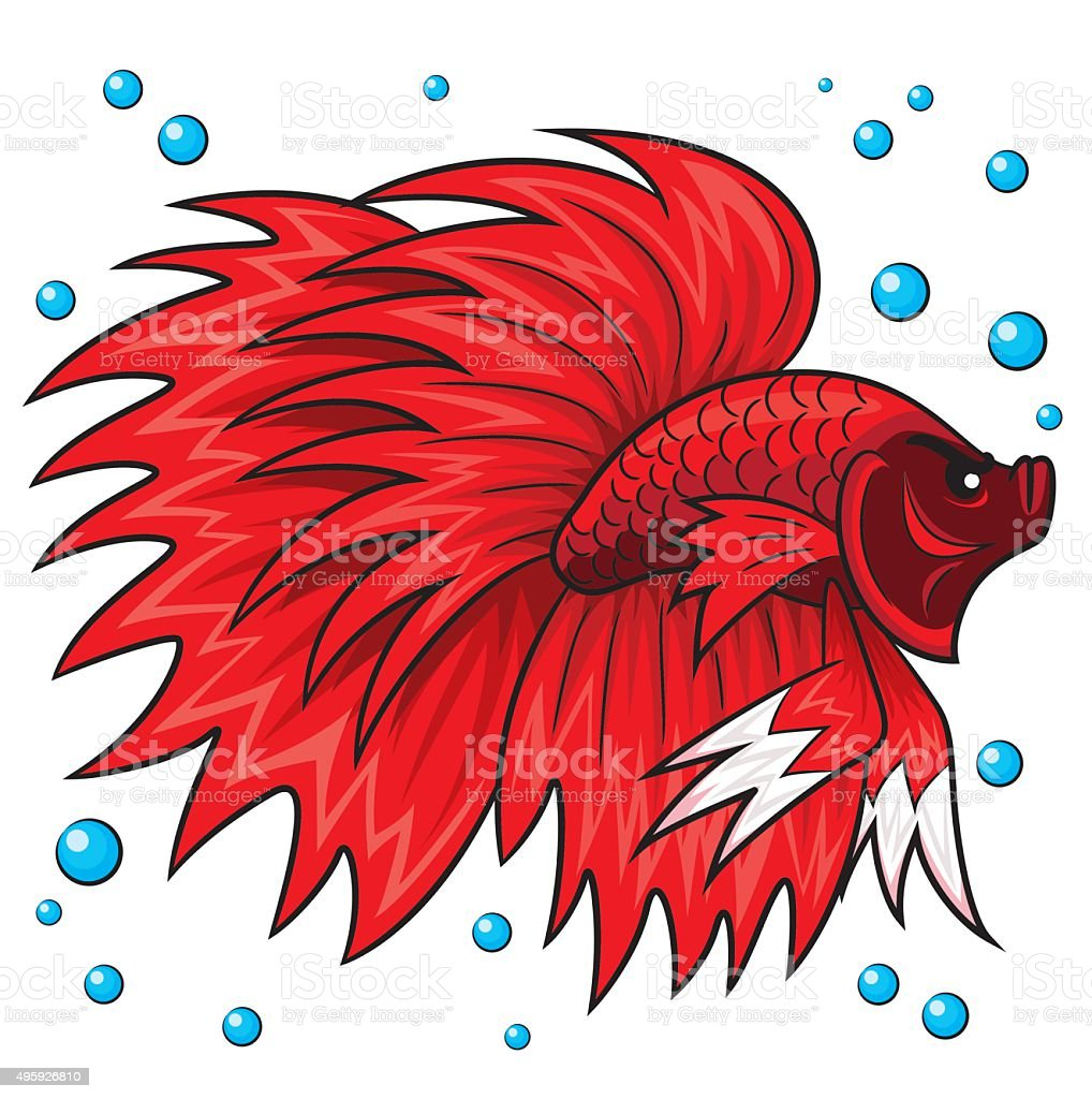 Betta Fish Cartoon Stock Vector Art & More Images of 2015 495926810 ...