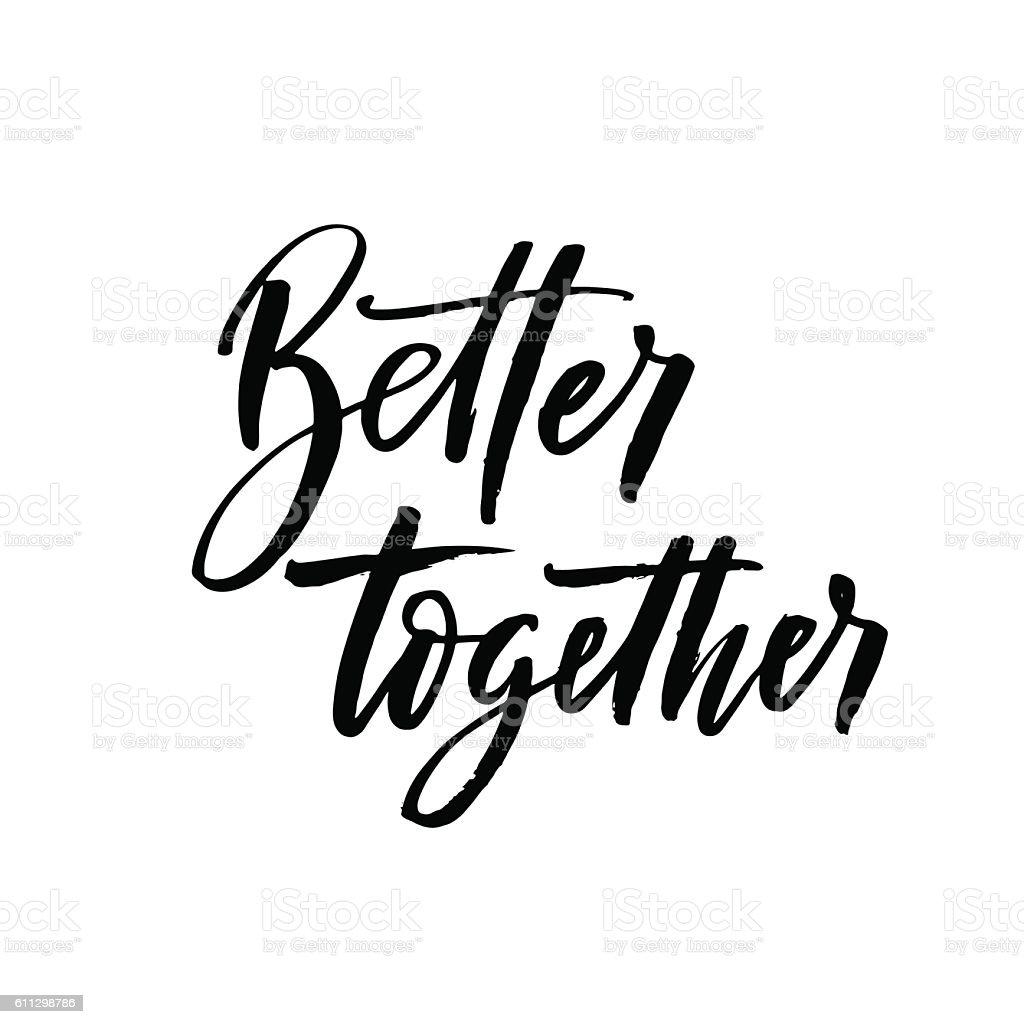 better together postcard stock vector art more images of black