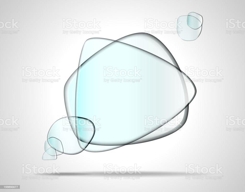 Beveled edges on transparent glass plates royalty-free stock vector art