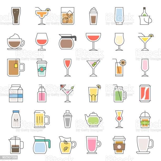 Beverage and glass set filled outline icon vector vector id932307338?b=1&k=6&m=932307338&s=612x612&h=dwm3ll4cqazfxitpchpge xvxompwlc8z48 tu9u3ce=