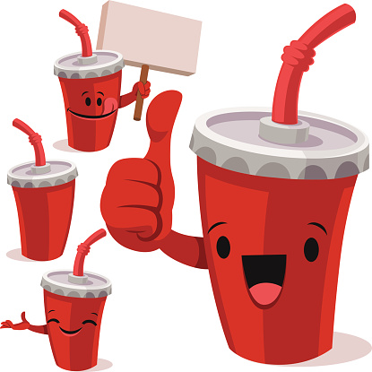 Beverage Cup Cartoon Set C