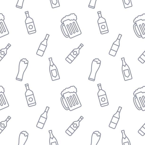 Bebidas bebidas Vector de fondo - ilustración de arte vectorial
