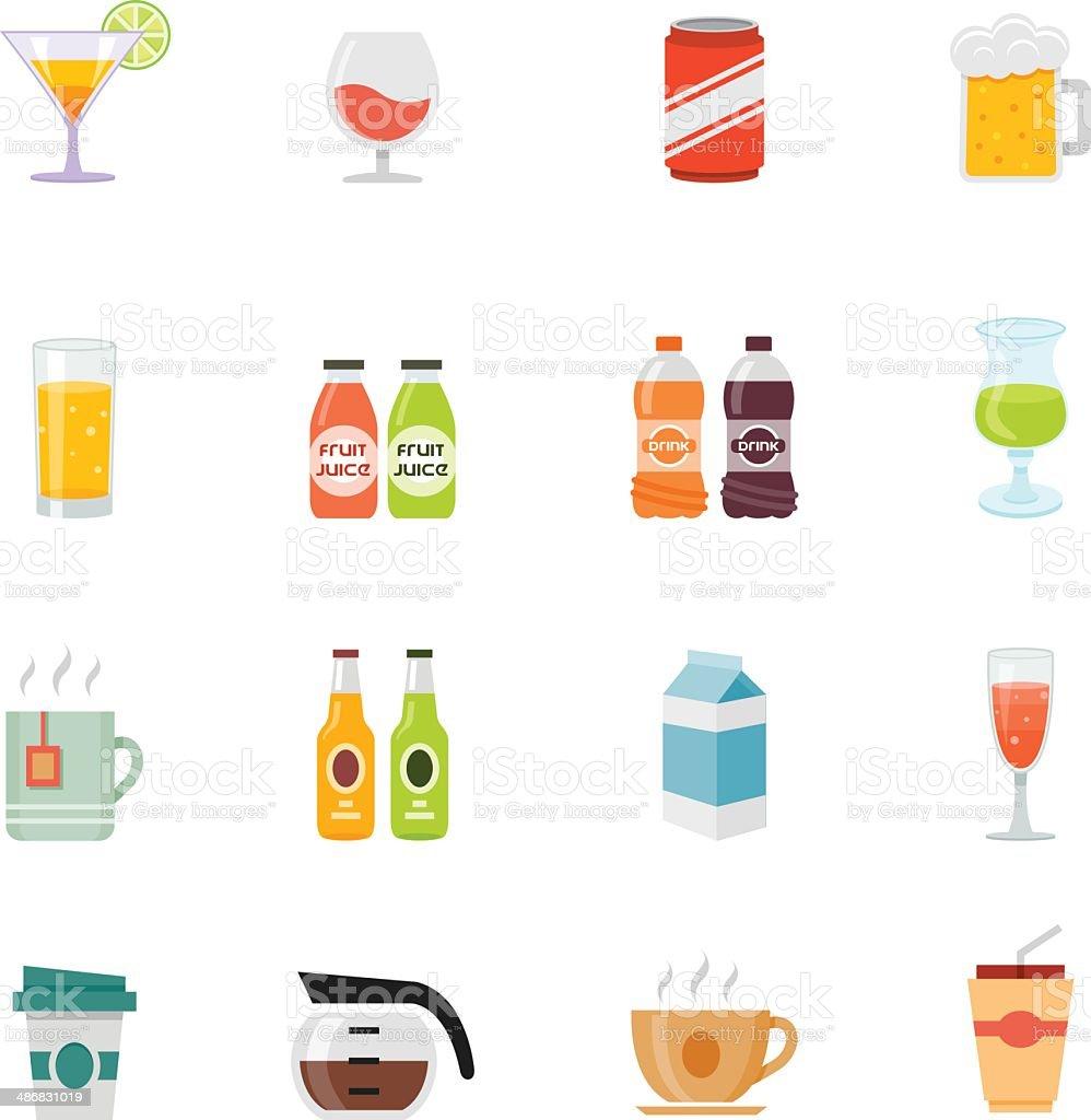 Bevande design piatto icona di colore completo - illustrazione arte vettoriale